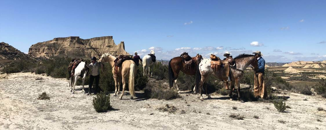 rutas a caballo por las bardenas