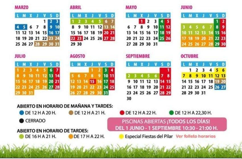 Calendario apertura parque atracciones 2019